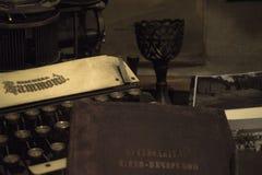 Ein historischer Wissenschaftler, ein Stillleben, ein Museum, ein Retro- Stockfotos