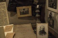 Ein historischer Wissenschaftler, ein Stillleben, ein Museum, ein Retro- Lizenzfreie Stockfotos