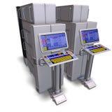 Ein historischer Zukunftsromancomputer oder -großrechner Stockbilder