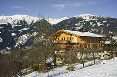 Ein historisches Bauernhaus in Österreich Stockfotos