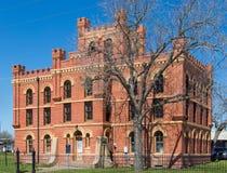 Ein histroic Gefängnis benutzt in Lockhart Texas von 1909 bis 1982 lizenzfreies stockbild
