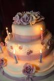 Ein Hochzeitskuchen Stockfoto
