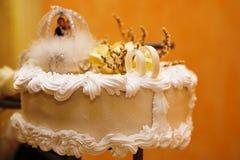 Ein Hochzeitskuchen Stockfotos