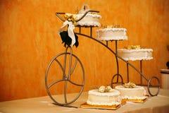 Ein Hochzeitskuchen Lizenzfreies Stockfoto
