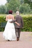 Ein Hochzeitspaar Stockbild