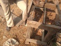 Ein Holzrahmen Lizenzfreies Stockfoto