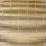 Ein horisontal Bambuszaunhintergrund Stockbilder