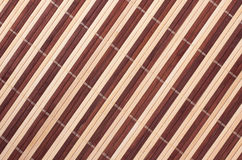 Ein horisontal Bambuszaunhintergrund Lizenzfreies Stockfoto