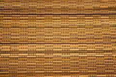 Ein horisontal Bambuszaunhintergrund Lizenzfreies Stockbild