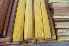 Ein horisontal Bambuszaunhintergrund Stockfotografie