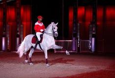Ein horserider von Bahrain führt in Maraee 2014 durch Lizenzfreie Stockfotos