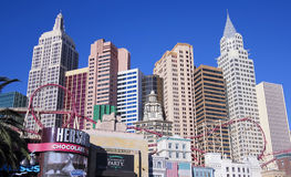 Ein Hotel-u. Kasino-Schuss New York New York Stockfoto