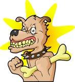 Ein Hund und sein Knochen Lizenzfreies Stockfoto