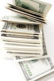 Ein hundre Dollarscheine Lizenzfreies Stockbild