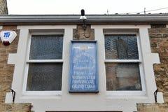 Ein Häuschen der königlichen vorsintflutlichen Bestellung der Büffel Lizenzfreie Stockbilder