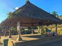 Ein im altem Stil Tempel in Bali, Indonesien stockbild