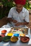 Ein indischer ländlicher Künstler Lizenzfreie Stockfotografie