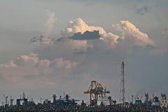 Ein Industriegebiet Stockbild
