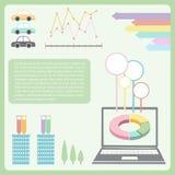 Ein infographics, welches die Technologie zeigt Lizenzfreie Stockbilder