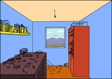 Ein Innenraum eines Raumes Stockfotografie