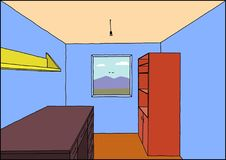 Ein Innenraum eines Raumes Stockfoto