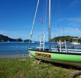 Ein Inselboot bereit zu laufen Lizenzfreie Stockfotografie