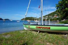 Ein Inselboot bereit zu laufen Stockfotografie