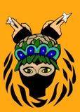 Ein intelligentes ninja mit Waffe Lizenzfreie Abbildung