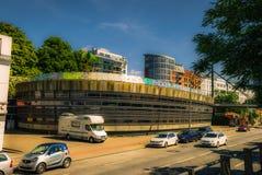 Ein interessantes Gebäude in Hamburg, Deutschland stockfotos