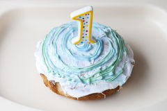 Ein Jährig-Zertrümmern-Kuchen Lizenzfreie Stockfotografie