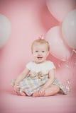 Ein jährige Geburtstags-Porträts Stockbild