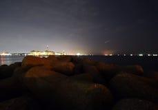 Ein japanisches Nachtmeer Stockbilder
