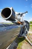 Ein Jet-Hubschrauber mit einer Ordnung auf der Maschine Lizenzfreie Stockbilder