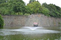 Ein Jet von watera Brunnen Stockfotografie