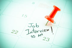 Ein Job Interview-Datum lizenzfreie stockfotos