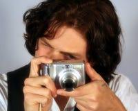 Ein jugendlich macht ein Foto stockfotos