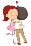 Ein Junge und ein Mädchen Stockfotos