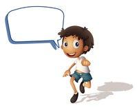 Ein Junge und rufen aus vektor abbildung