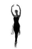 Ein junger kaukasischer Balletttänzer in einem schwarzen Kleid Stockfotos