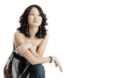 Ein junges asiatisches Art und Weisebaumuster Lizenzfreies Stockbild