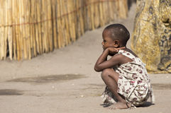 Ein junges ethnisches Mädchen Stockfoto