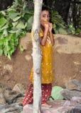 Ein junges indisches Stammes- Mädchen Stockfoto