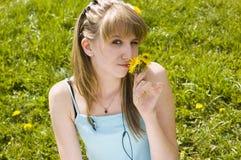 Ein junges Mädchen lizenzfreie stockbilder