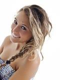 Ein junges und glückliches Lächeln Stockfoto