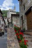 Ein köstlicher Blick von Gubbio, mittelalterliche Stadt Stockbilder