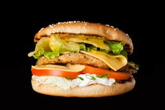 Ein köstlicher Burger Stockfotografie