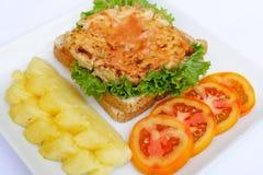 Ein köstlicher Hamburger Stockbilder