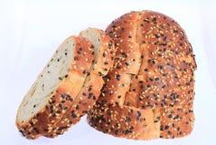 Ein köstliches Brot mit dem indischen Sesam essfertig Stockfotografie