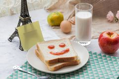 Ein köstliches und herzliches Frühstück Stockfoto