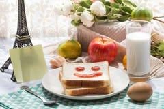 Ein köstliches und herzliches Frühstück Stockbild